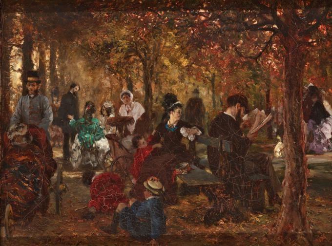Адольф фон Менцель. В Люксембургском саду