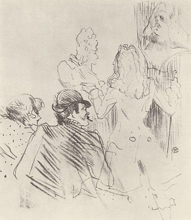 Анри де Тулуз-Лотрек. Чествование Мольера в Театре Антуана