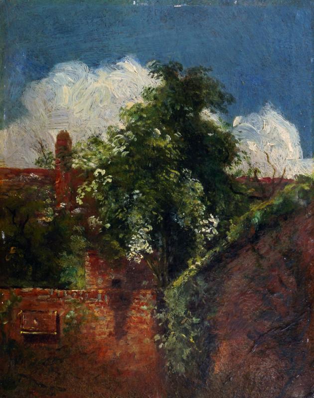 Джон Констебл. Вид со старым деревом с задней террасы дома