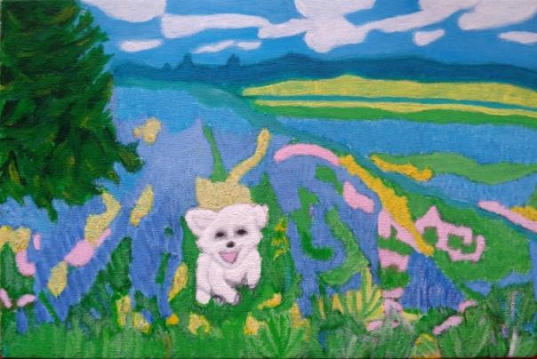 "Natalia Viktorovna Rassadina. ""Cheerful dog of the Archangel Gabriel"""