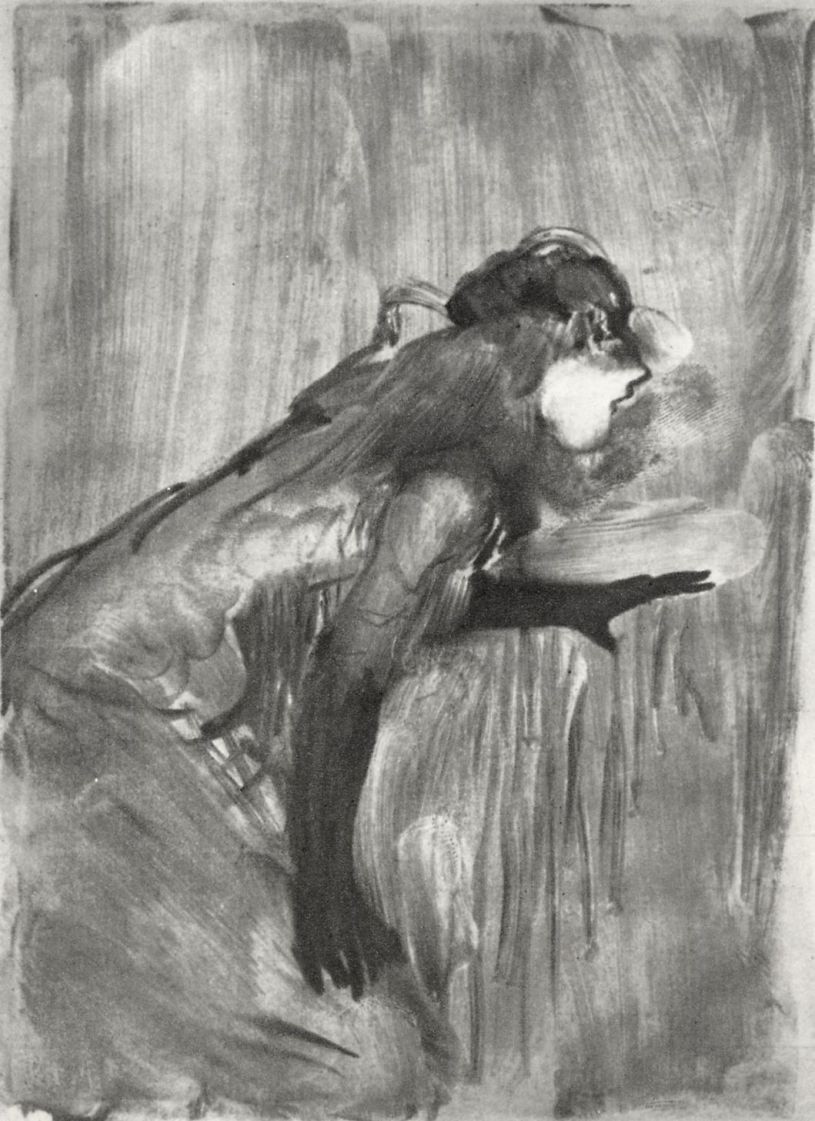 Edgar Degas. The singer from a music hall
