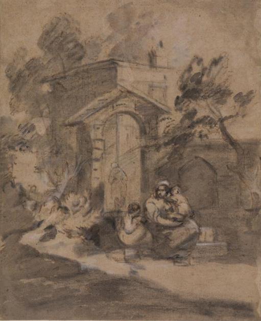 Томас Гейнсборо. Женщина с детьми, сидящая у ворот