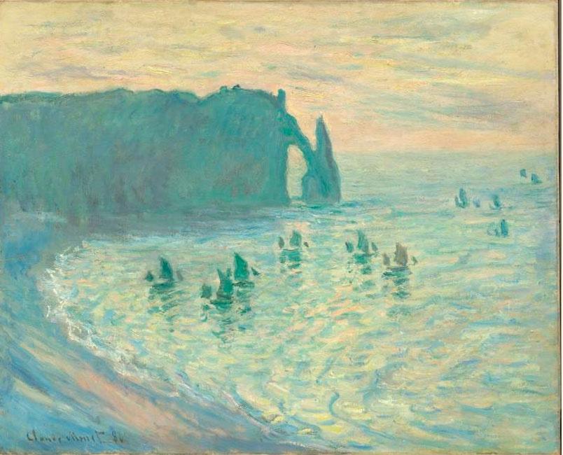 Claude Monet. The Cliffs at Etretat