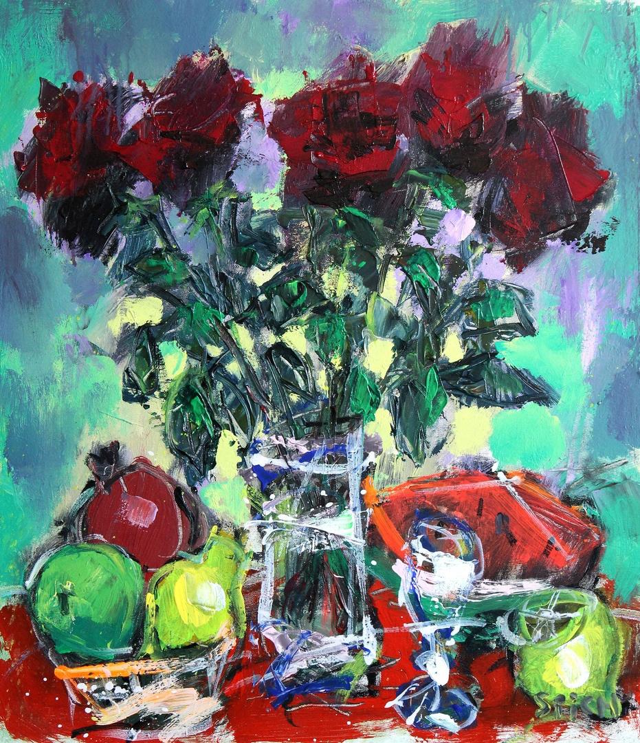 Ilya Pavlovich Spichenkov. Roses