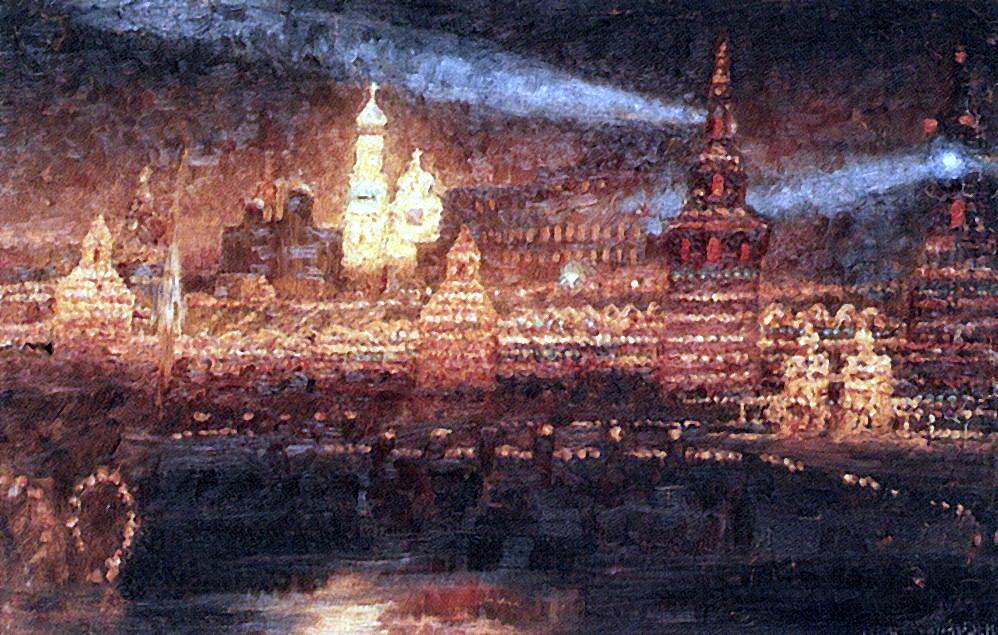 Василий Иванович Суриков. Иллюминация Москвы