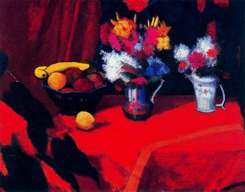Уоррен Брандт. Натюрморт с фруктами и цветами