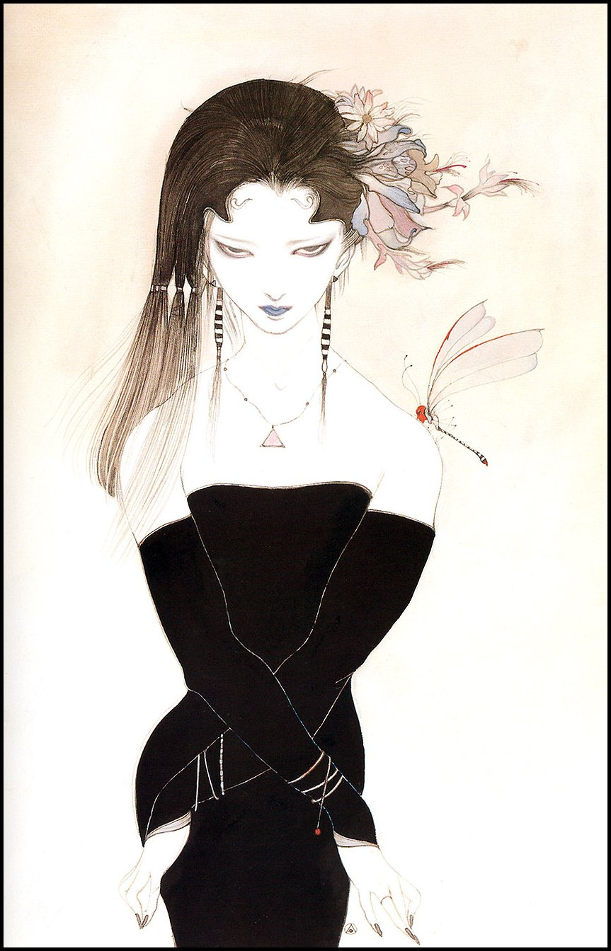 Yoshitaka Amano. Hand drawn fantasy Amano Еситака55
