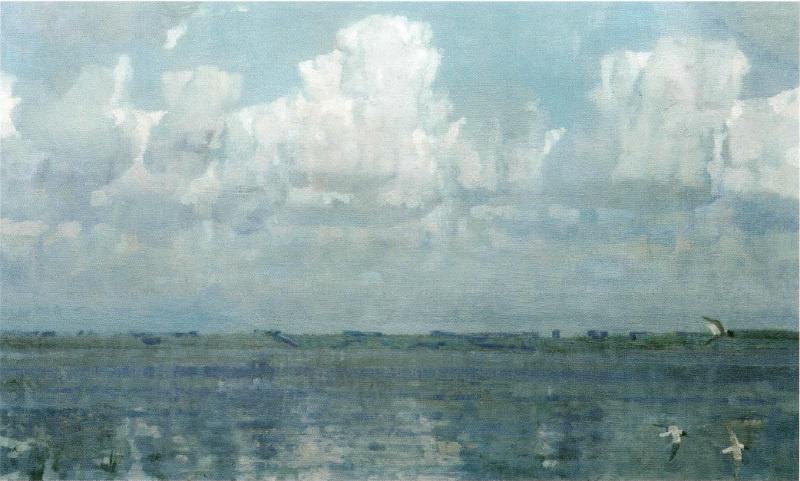 Sergey Alexandrovich Gavrilyachenko. Cloud. Lake Nero. 1999