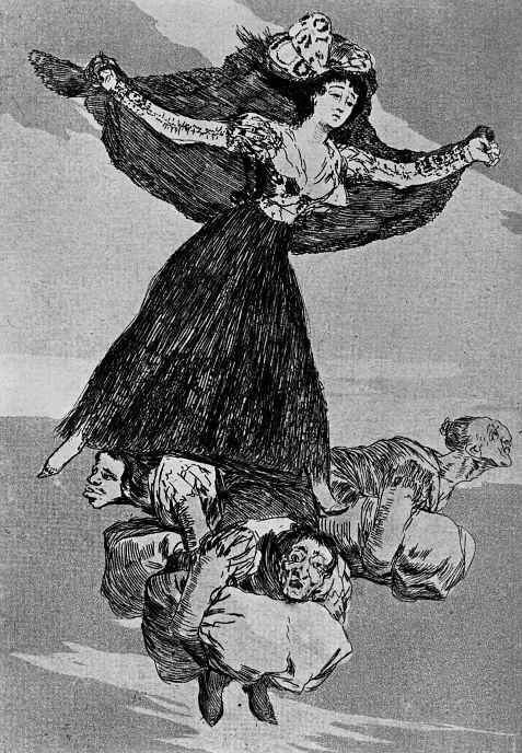 "Francisco Goya. ""They took off"" (Series ""Caprichos"", page 61)"
