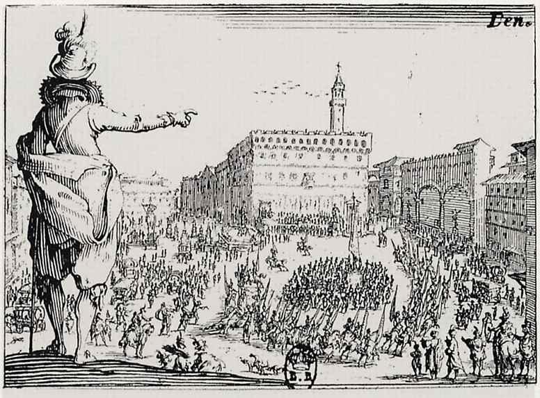 Жак Калло. Праздник на площади Синьории во Флоренции