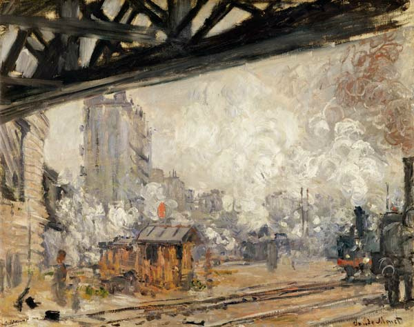 Claude Monet. The Gare Saint-Lazare, outside view