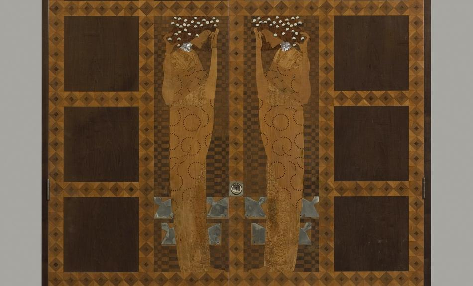 Koloman Moser. Inlaid Armoire from the Eisler-Terramare Apartment Bedroom