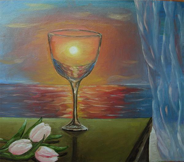 Lyudmila Nikolaevna Kulikova. Glass of sunset