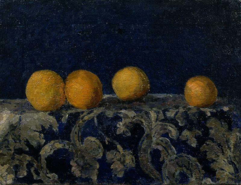Михаил Федорович Ларионов. Натюрморт с апельсинами