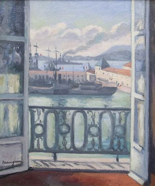 Henri Manguin. The view from the balcony, Toulon