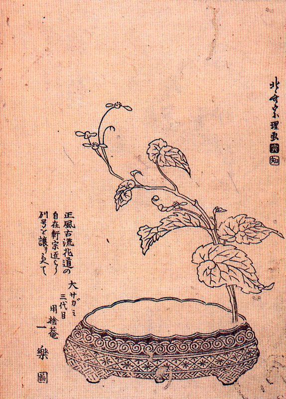 Кацусика Хокусай. Цветочная композиция