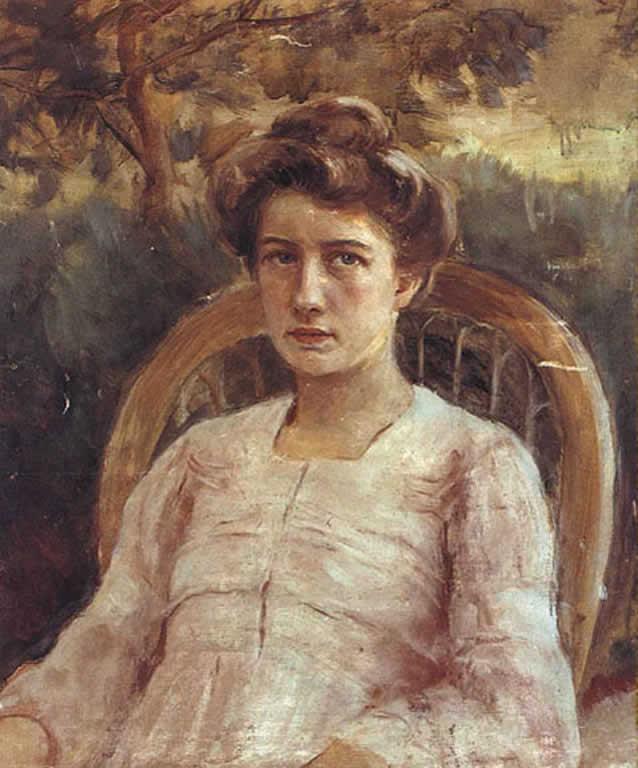 Евгений Иосифович Буковецкий. Portrait of Vera Prokudinoy