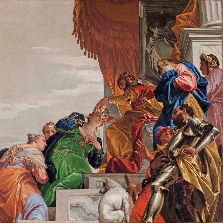 Паоло Веронезе. Коронация Эсфирь. Роспись на потолке церкви Сан-Себастьяно в Венеции