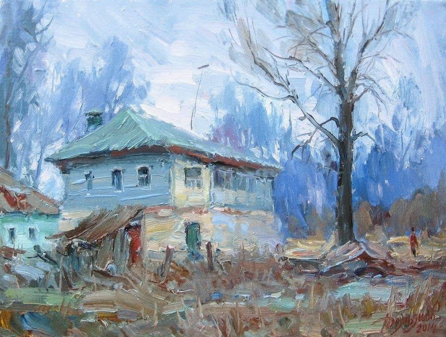 Yuri Demyanov. House on the outskirts