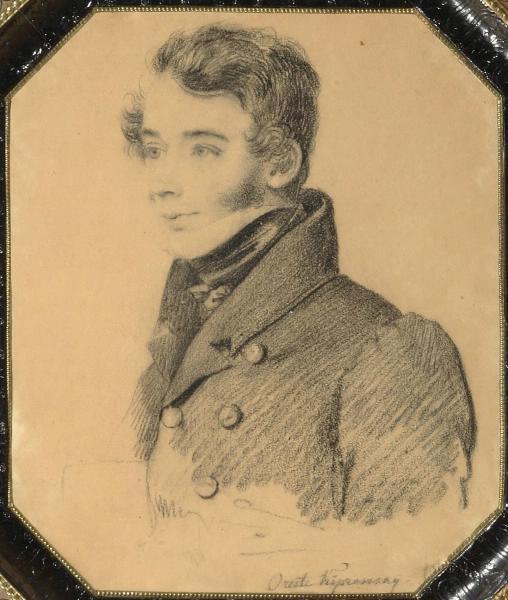Орест Адамович Кипренский. Портрет неизвестного молодого человека с папкой