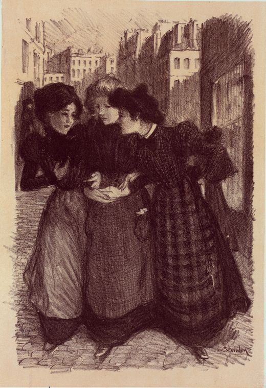 Theophile-Alexander Steinlen. Walk around the city. Illustration for the magazine