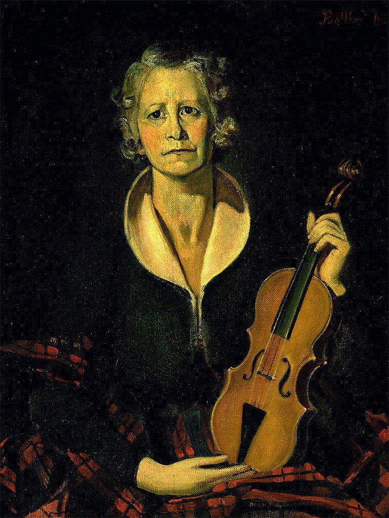 Balthus (Balthasar Klossovsky de Rola). Woman with violin