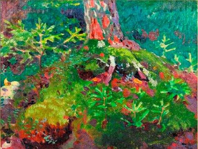 Arkady Alexandrovich Rylov. Forest landscape. Young tree