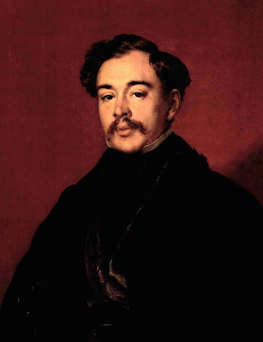 Vasily Andreevich Tropinin. Portrait of an unknown man in a black coat