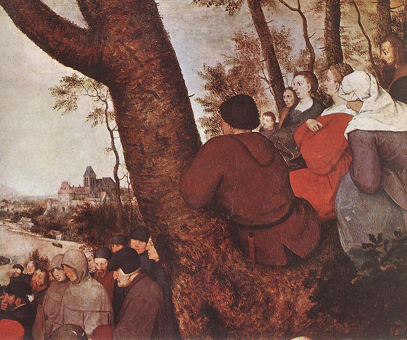 Питер Брейгель Старший. Проповедь святого Иоанна Крестителя. Фрагмент 1