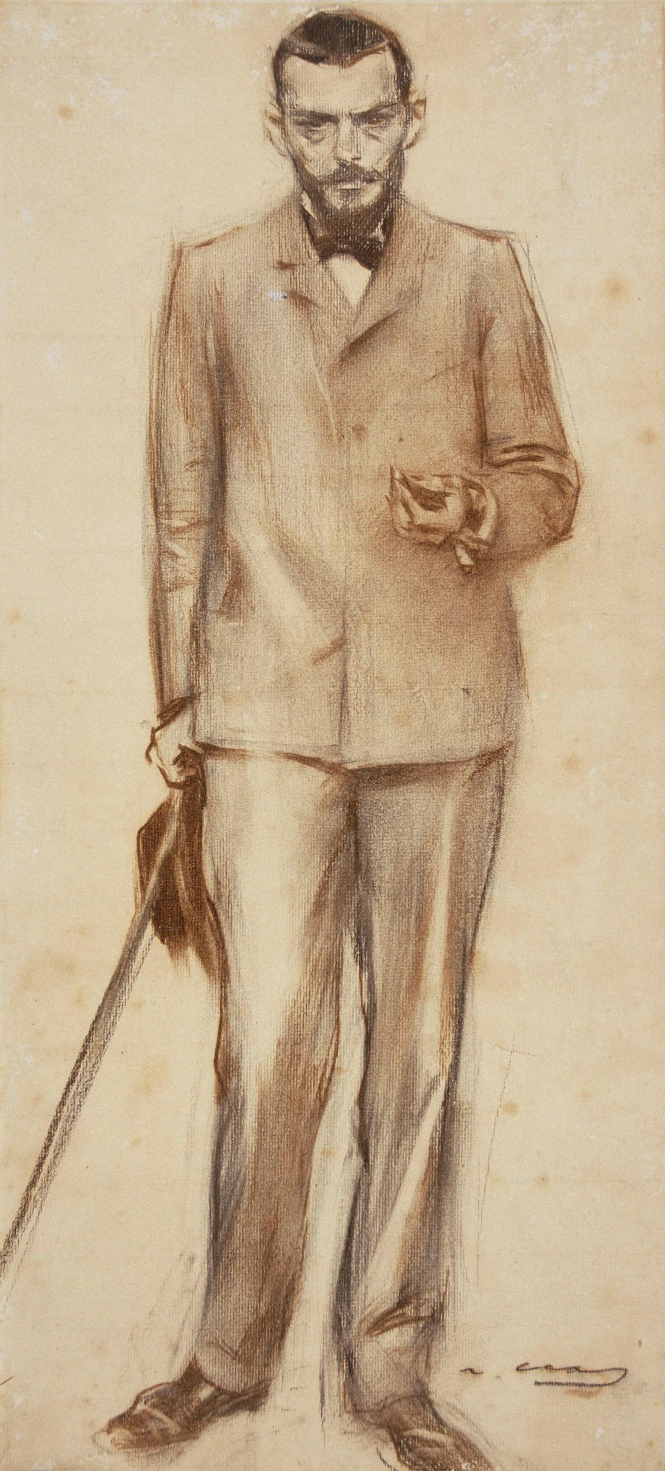 Ramon Casas i Carbó. Portrait of Josep Llimona
