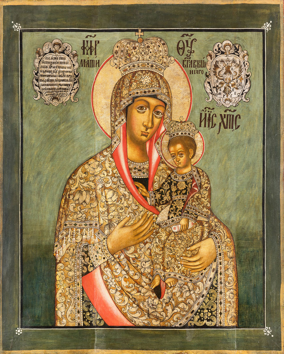 Icon Painting. Mother of God Ilinskaya Chernigovskaya