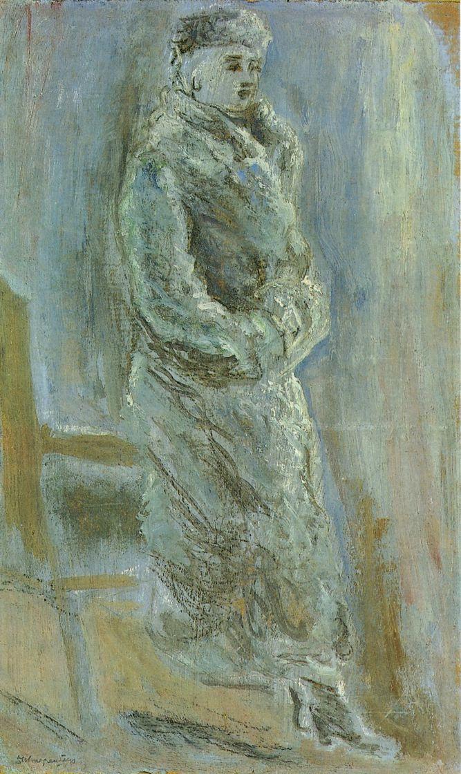 David Petrovich Shterenberg. Mary in fur coat