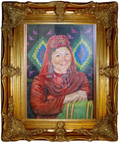 "Taslima Amirovna Namazova. ""Shakvinsky Tatar"". 30x40 paper. Watercolor. 2010 year."