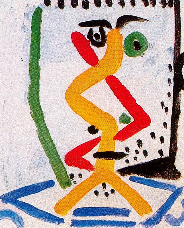Пабло Пикассо. Голова мужчины 1