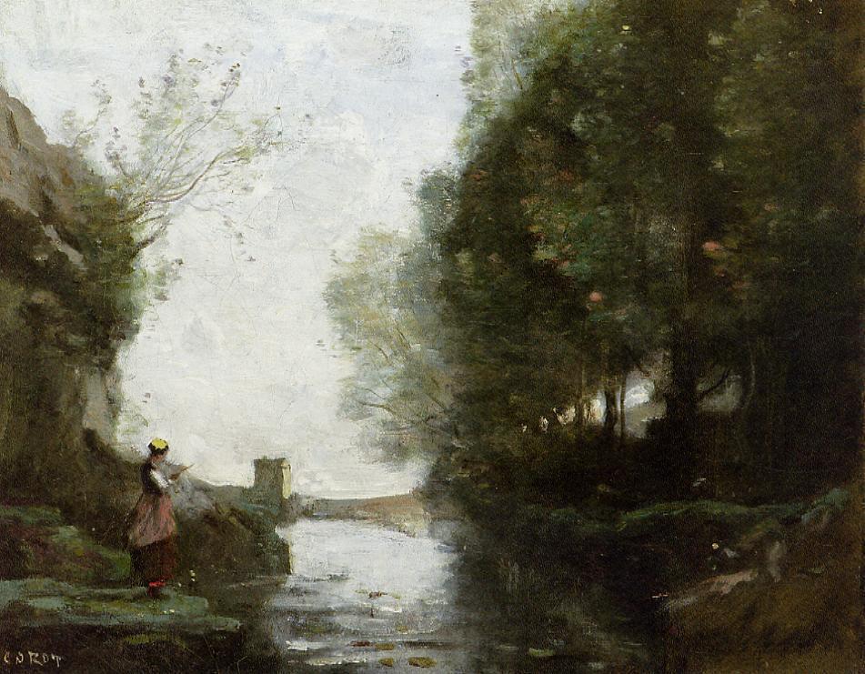 Камиль Коро. Девушка у воды