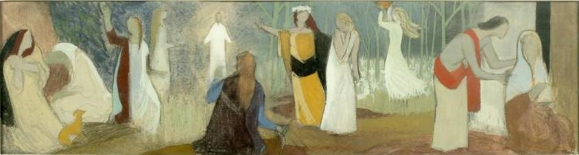Tove Jansson. Parable about ten virgins. Sketch of the painting of the altar of the church of the city of Teuva