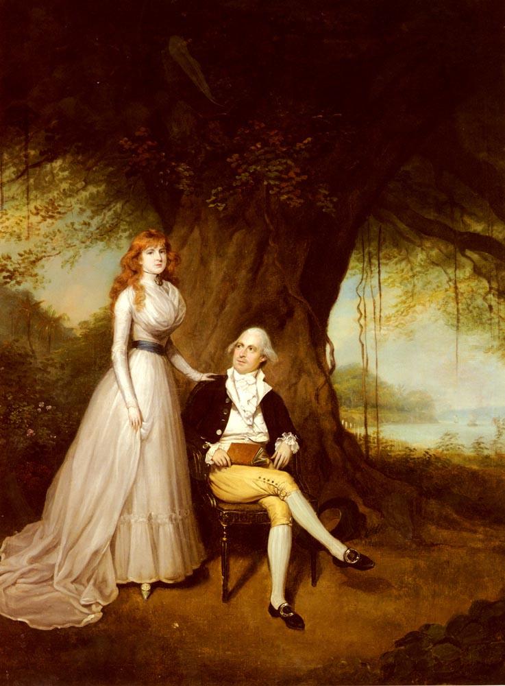Артур Уильям Дэвис. Портрет Роберта Гранта и его жены Элизабет