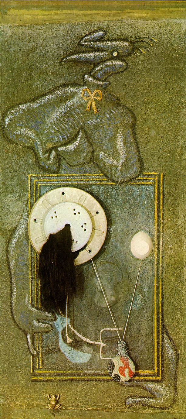 Max Ernst. Loplop and young girl