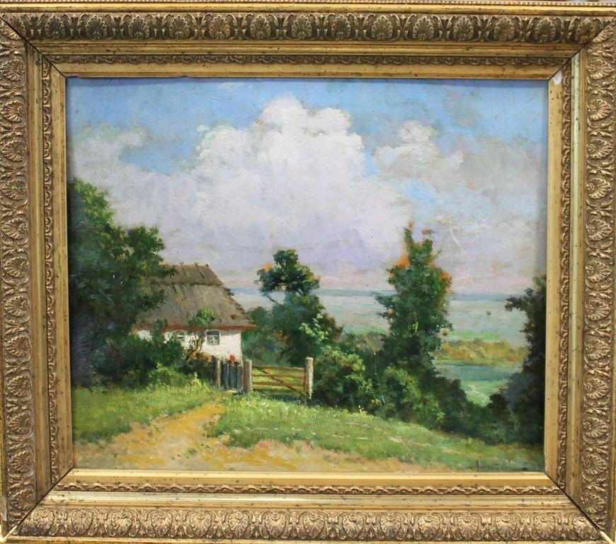 Alexander Borisovich Shibanov. Landscape with a house