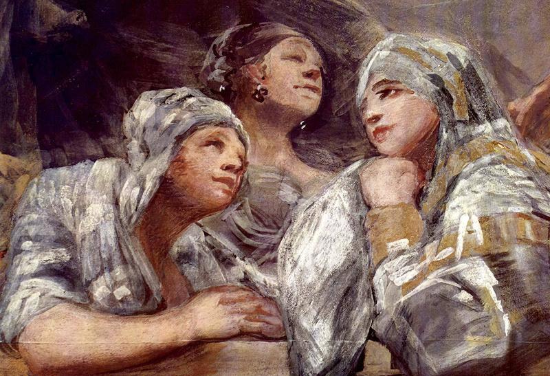 Франсиско Гойя. Фреска часовни Св. Антония Флоридского, деталь 1