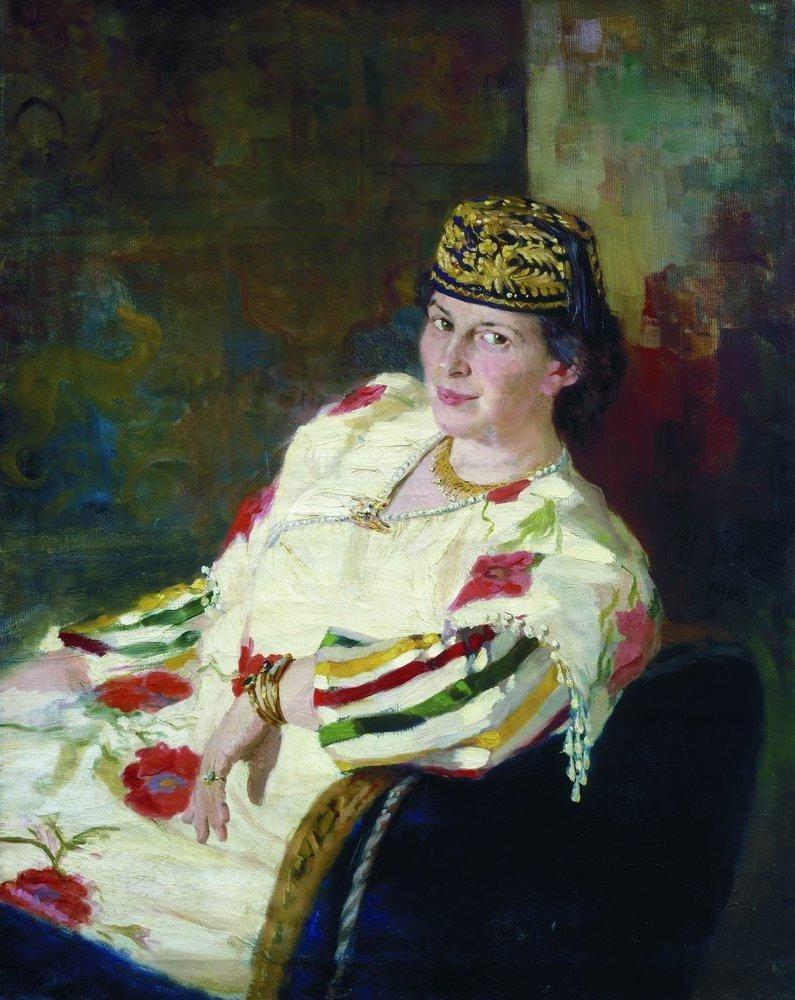Илья Ефимович Репин. Портрет М. К. Олив