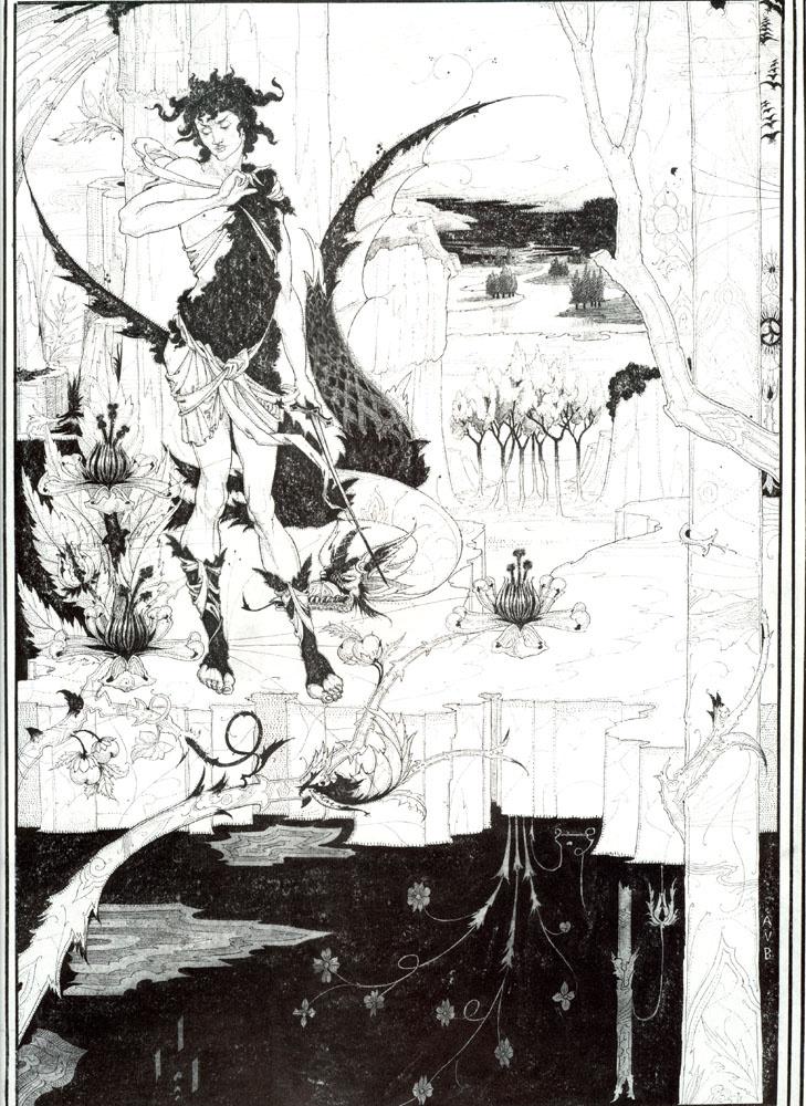 Обри Бердслей. Иллюстрация к Зигфриду, акт 2