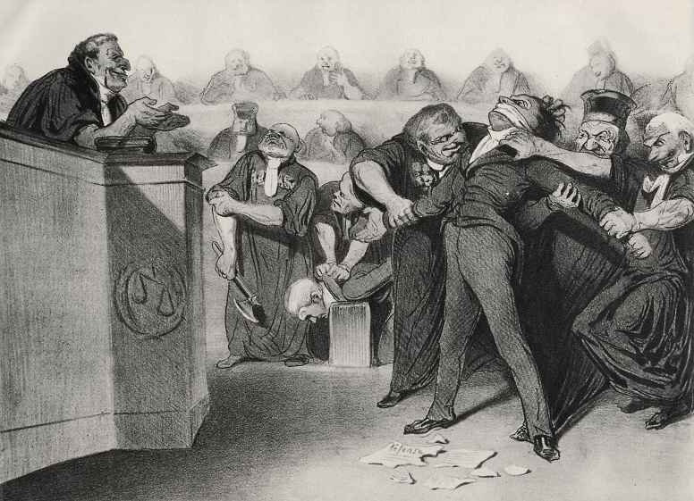 Honore Daumier. The word is the defendant !