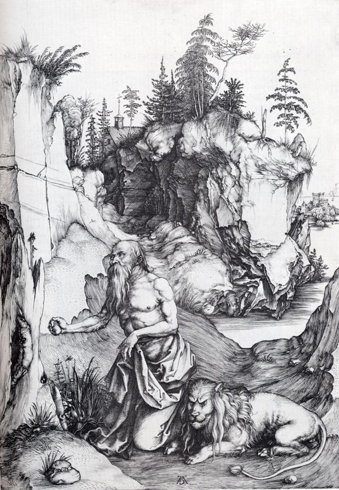 Альбрехт Дюрер. Блаженный Иероним, кающийся в пустыне