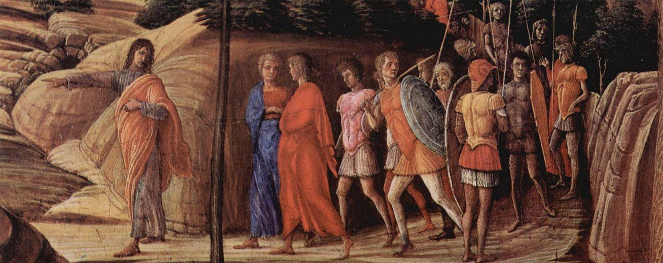 Андреа Мантенья. Христос в Гефсиманском саду, деталь: Приближающийся наемник