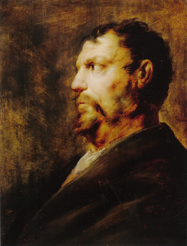 Ян Ливенс. Портрет зрелого мужчины в профиль
