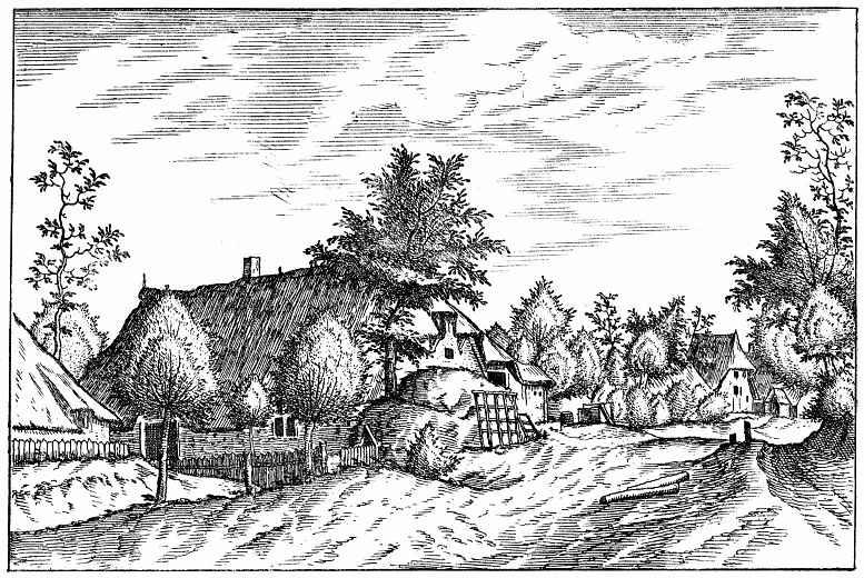 Питер Брейгель Старший. Серия Малые пейзажи, пейзаж №24