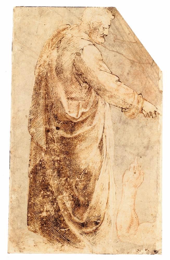 Микеланджело Буонарроти. Этюд со стоящим мужчиной