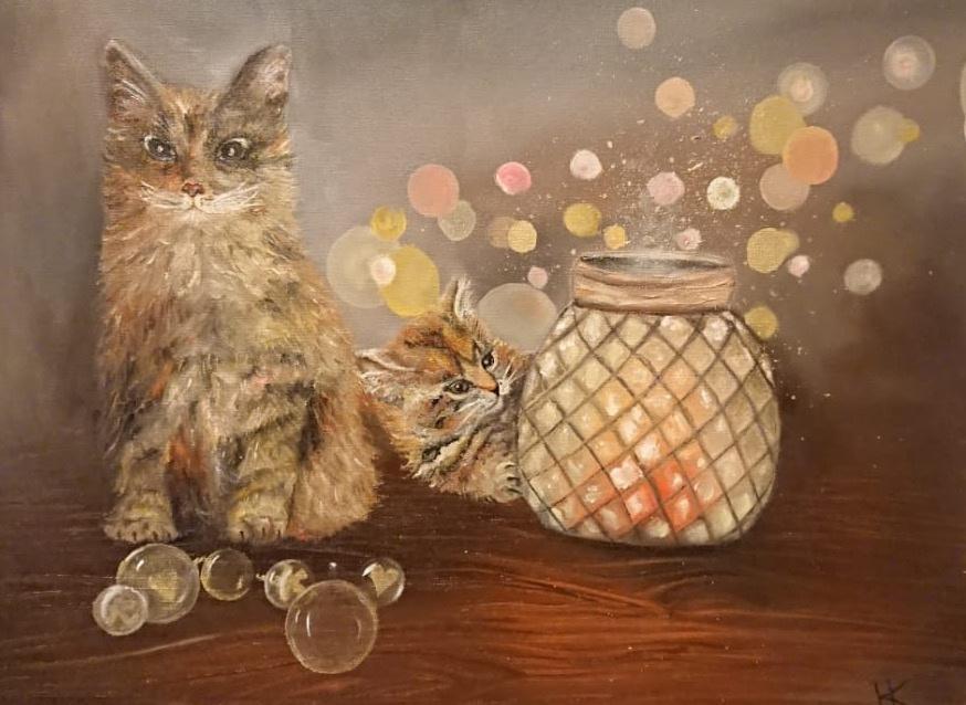 Natalia Kupreychenko. Balls and Cats