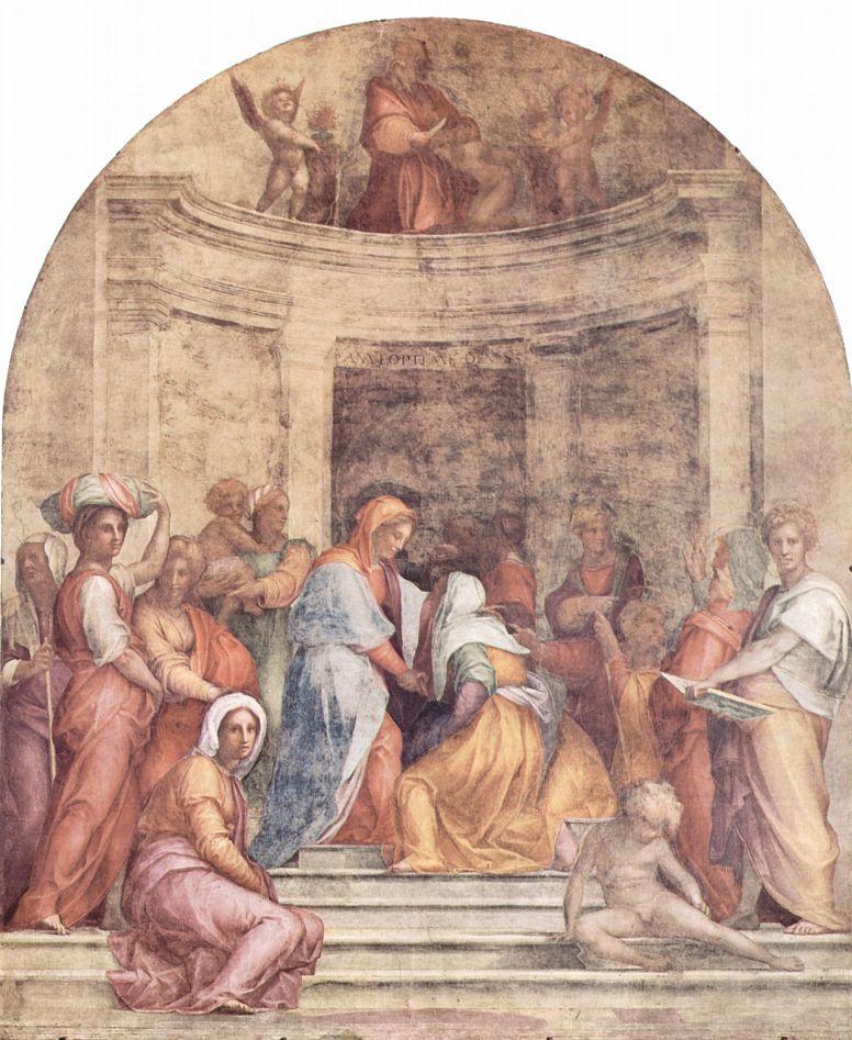 Якопо Понтормо. Встреча Марии и Елизаветы